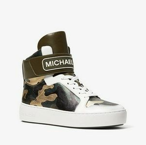Michael Kors Metallic Camo High Top Sneakers